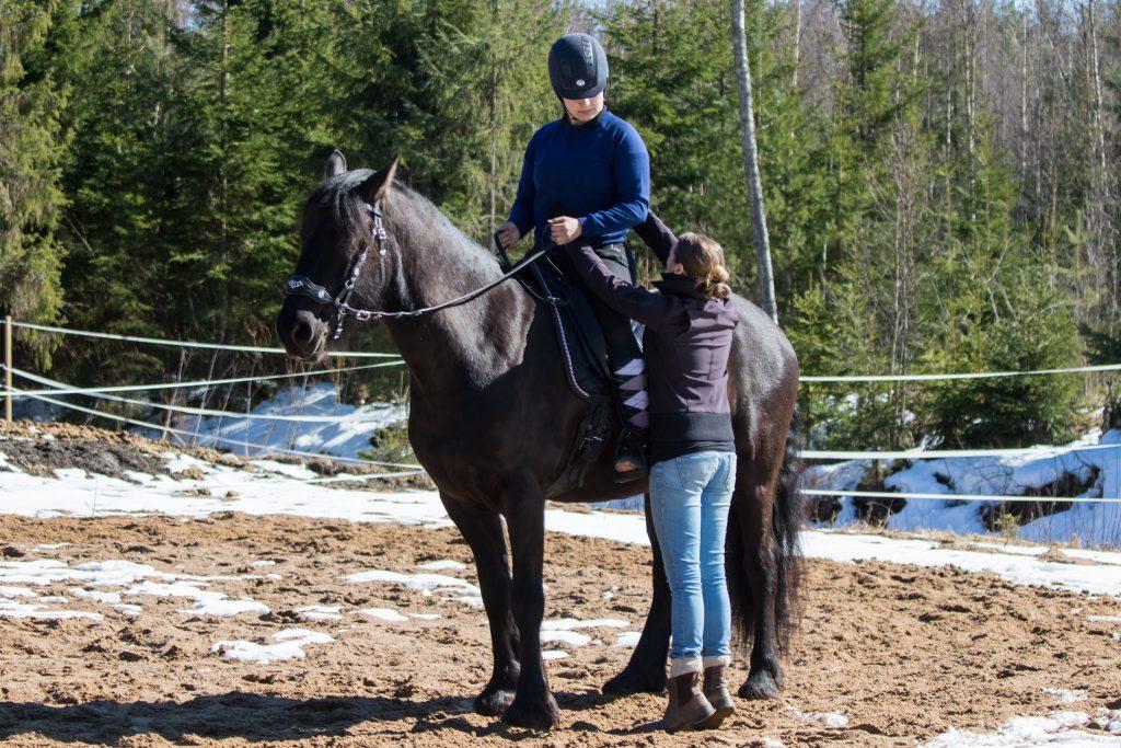 Keskivartalon tuki ja syvät vatsalihakset ratsastuksessa